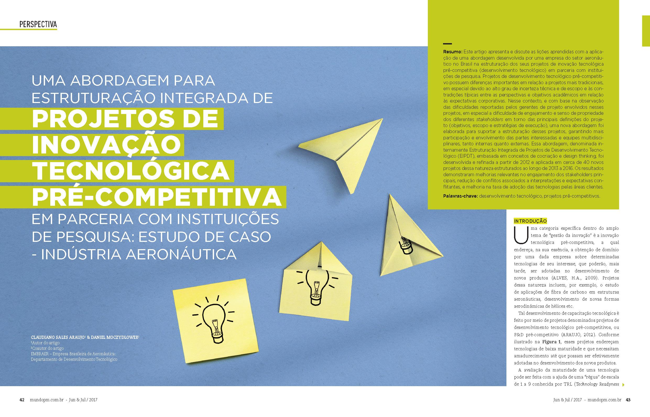 Projetos de Inovação Tecnológica Pré-Competitiva